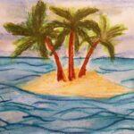 """Projekt """"Meine Insel"""" Intermediale Kunsttherapie Expressive Arts Therapy Susanna Tuppinger St. Gallen Ostschweiz"""